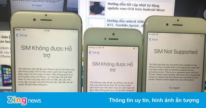 SIM ghép bị khóa lần 3, iPhone lock ở Việt Nam sắp biến mất