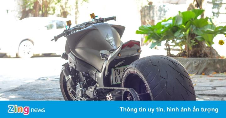 Suzuki Hayabusa độ bánh béo và phuộc kéo độc nhất Việt Nam