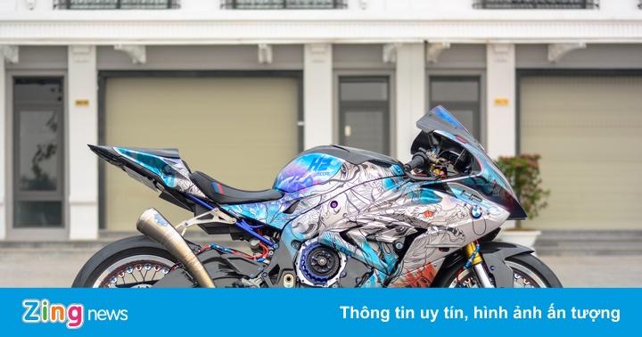 """""""Cá mập"""" BMW S1000RR độ nồi khô đầu tiên tại Việt Nam"""