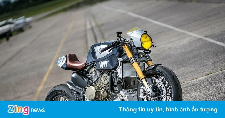 Ducati 1299 Panigale R khác lạ với bản độ cafe racer