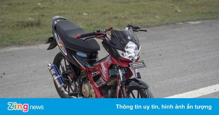 Suzuki Satria F150 với loạt đồ chơi hàng hiệu của biker Cần Thơ