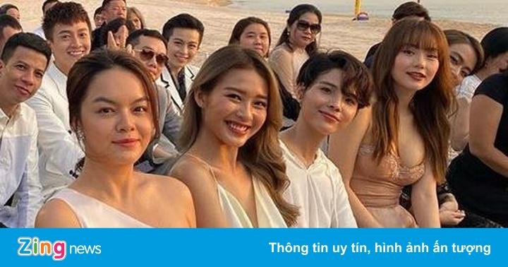 Ảnh hài hước của Hari Won, Khổng Tú Quỳnh ở đám cưới Đông Nhi