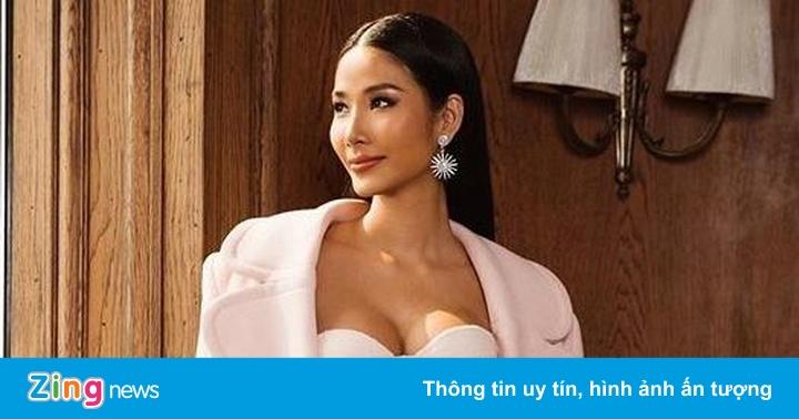 Hoàng Thùy chăm diện váy áo cúp ngực ở Hoa hậu Hoàn vũ 2019