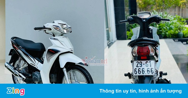 Honda Blade biển số đẹp được rao bán giá gần 200 triệu đồng