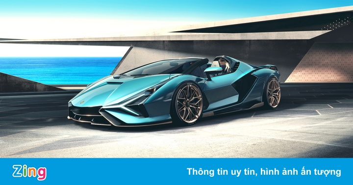 Sián Roadster ra mắt - siêu xe mui trần mạnh nhất của Lamborghini
