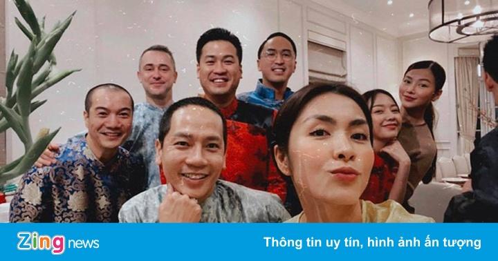 Hoa hậu Phương Khánh, Kathy Uyên dự tiệc tất niên ở nhà Tăng Thanh Hà