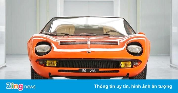 Siêu xe cổ Lamborghini Miura hồi sinh sau 50 năm 'mất tích'