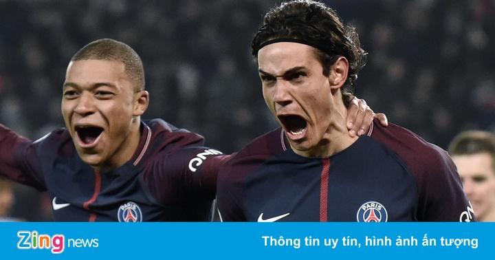 Cavani và Mbappe trở lại đội hình PSG ở Champions League