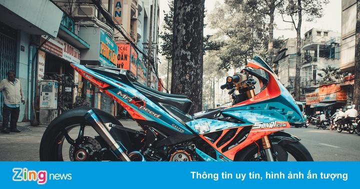 Yamaha Exciter độ hàng trăm triệu đồng theo phong cách BMW S1000RR