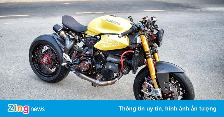 Ducati Panigale 1199 S độ cafe racer về tay đại gia Sài Gòn