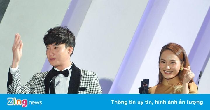 Bảo Thanh khóc khi nhận giải AAA cùng Quốc Trường - aaa