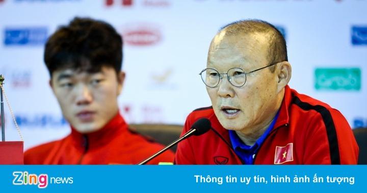 """HLV Park Hang-seo: """"Thể lực là điều đáng lo của Việt Nam khi gặp Iraq"""""""