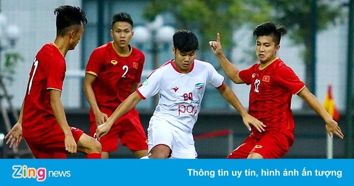 U22 Việt Nam đá giao hữu với CLB Viettel