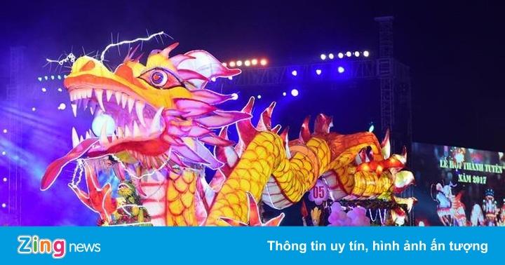 Chưa đến Trung thu, người Tuyên Quang đã tấp nập rước đèn khổng lồ