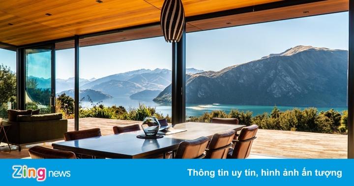 Căn biệt thự 'tựa núi nhìn hồ' trên dãy Alps của New Zealand