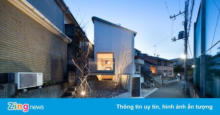 Ngôi nhà 4 tầng có thiết kế lơ lửng trên diện tích đất 50 m2