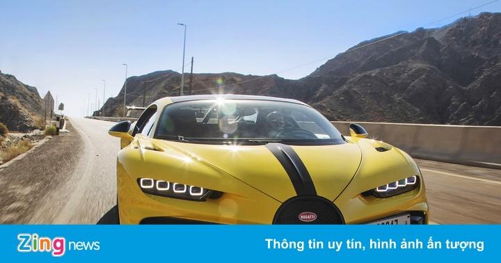 Bugatti Chiron Pur Sport được thử nghiệm tại Dubai