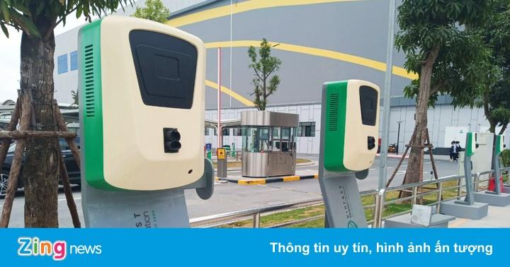 VinFast xây dựng trạm sạc cho xe máy và ôtô điện tại Hà Nội - mega 655