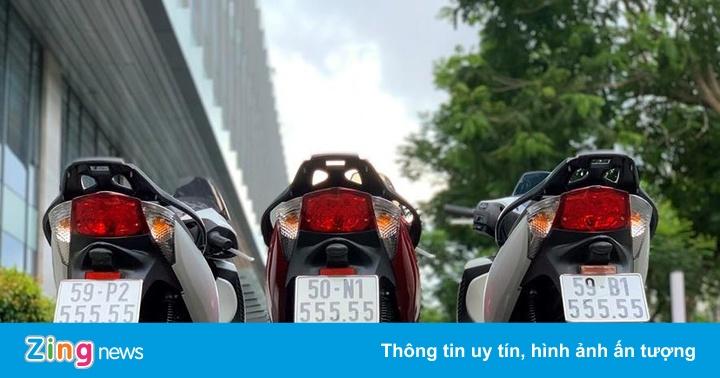 Dân chơi Sài Gòn sở hữu bộ ba Honda SH biển lục quý 5 giá 2 tỷ