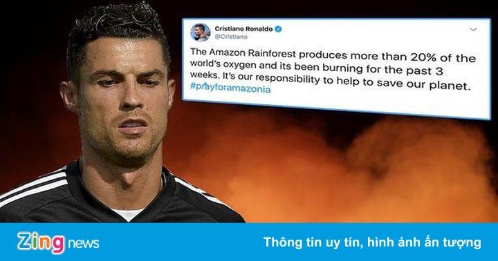 Ronaldo nói về cháy rừng Amazon, đăng nhầm ảnh từ 6 năm trước