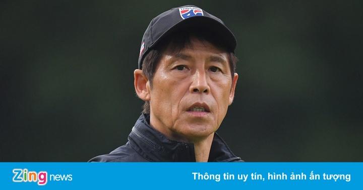 HLV Nishino căn dặn học trò ở buổi tập đầu tại Malaysia