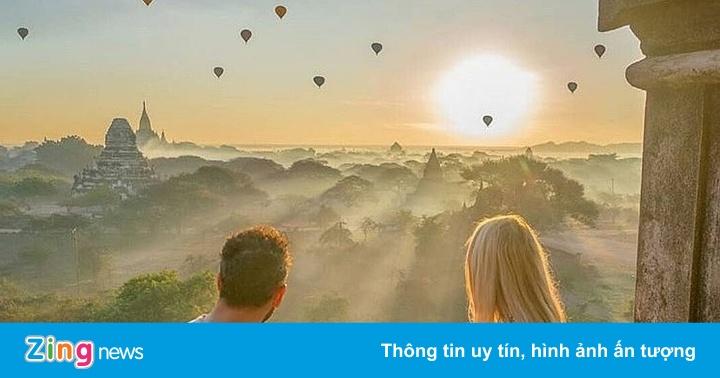 Ngắm khinh khí cầu tuyệt đẹp ở Myanmar