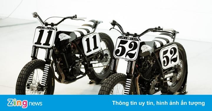Bộ đôi Suzuki và Honda độ phong cách Flat Tracker từ Italy
