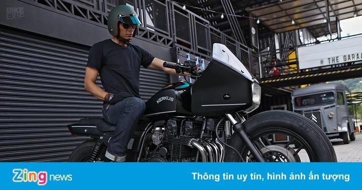 Môtô cảnh sát Honda CBX750 tái xuất với phong cách hầm hố