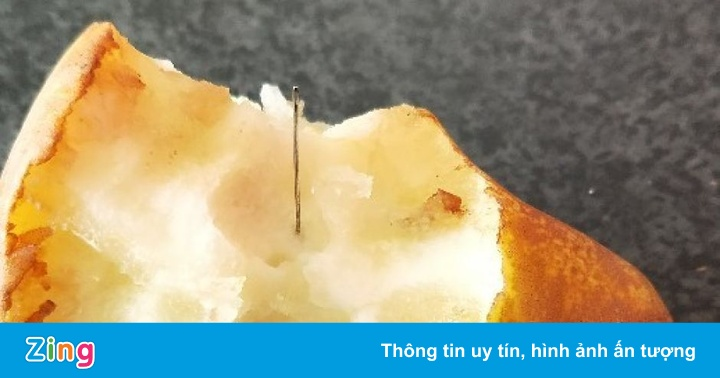 Lại phát hiện kim khâu trong quả lê tại Australia