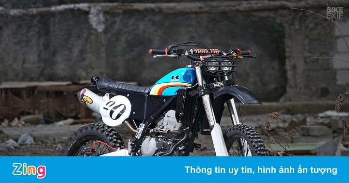 Kawasaki KLX250 độ phong cách cổ điển
