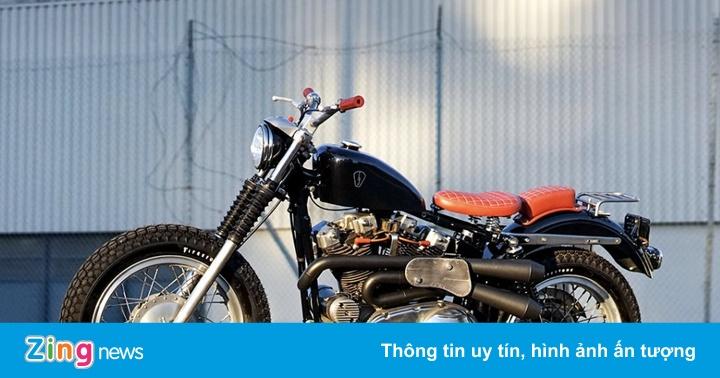 Xế độ Harley Davidson XLCH Sportster hồi sinh từ bãi rác