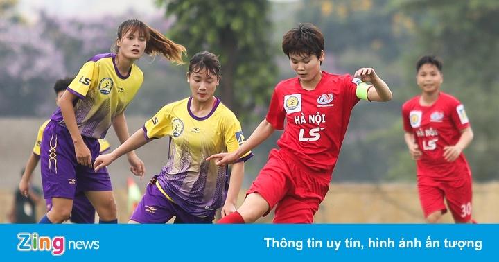 Đội trưởng CLB nữ Hà Nội gây ấn tượng mạnh với cú poker trong ít phút