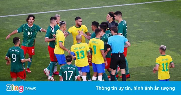 Cầu thủ Brazil và Mexico xô xát ở trận bán kết Olympic - bơi