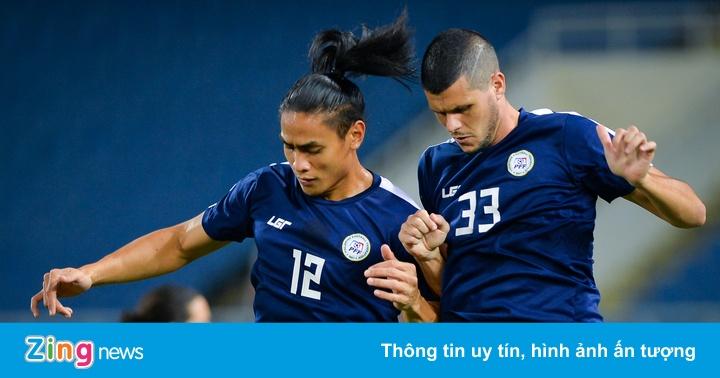 AFF CUP 2018: Cầu thủ Philippines tập tranh chấp bóng bổng trước khi gặp Việt Nam – Thể thao Việt Nam
