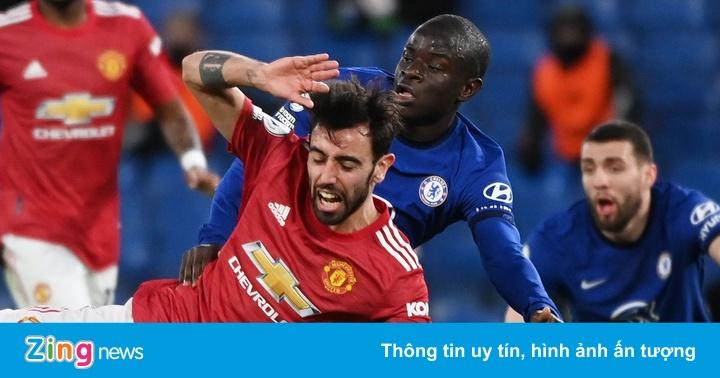 Chelsea 0-0 Man Utd: Bruno Fernandes chơi nhạt nhòa