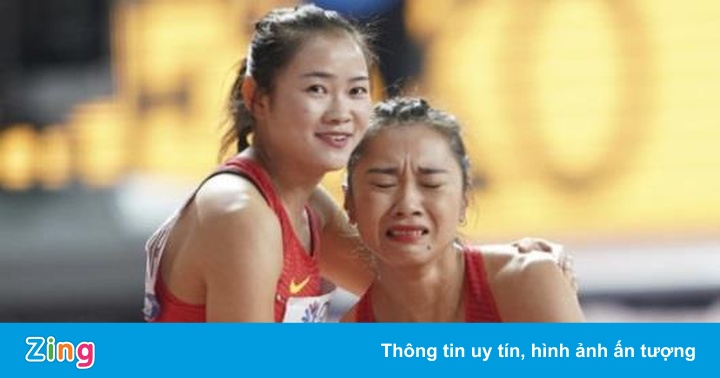 Nữ VĐV Trung Quốc òa khóc vì phạm lỗi ở giải điền kinh thế giới