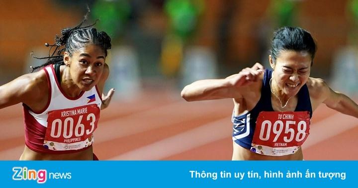 Lê Tú Chinh vượt 2 đối thủ nhập tịch, giành HCV nội dung 100 m