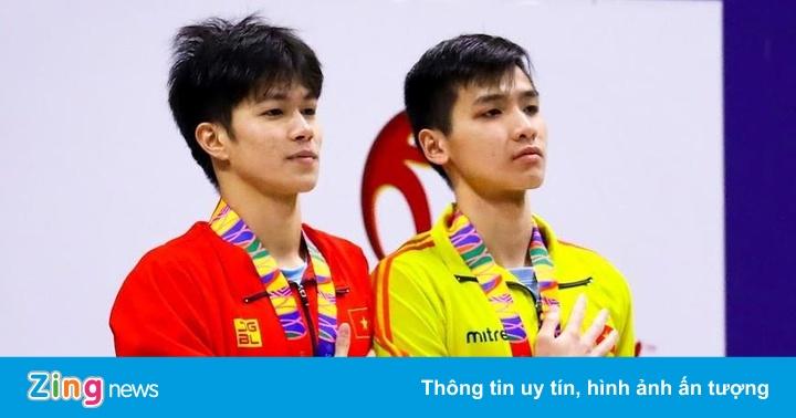 Kình ngư Hưng Nguyên, Kim Sơn đứng chung bục nhận huy chương SEA Games