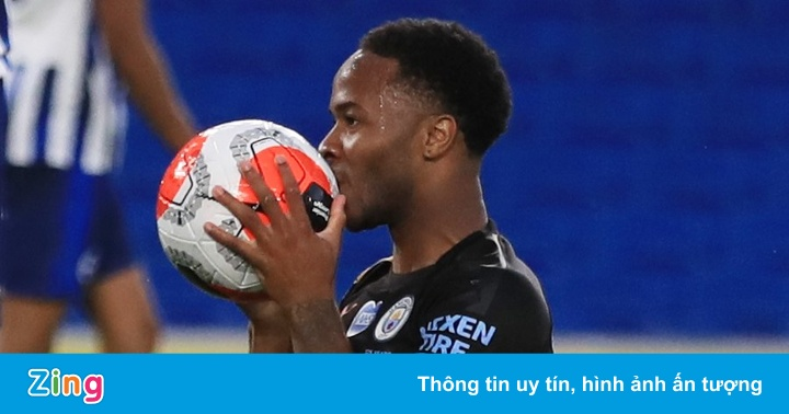 Sterling lập kỷ lục giúp Man City thắng Brighton 5-0 - kết quả xổ số trà vinh