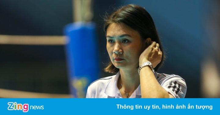 Kim Huệ thua trận đầu dẫn dắt tại giải bóng chuyền vô địch quốc gia