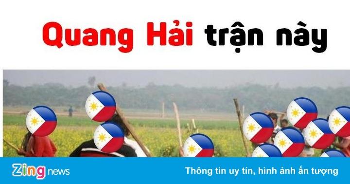 """""""Bao cát"""" Quang Hải được dân mạng chế ảnh sau trận gặp Philippines – Cộng đồng mạng"""