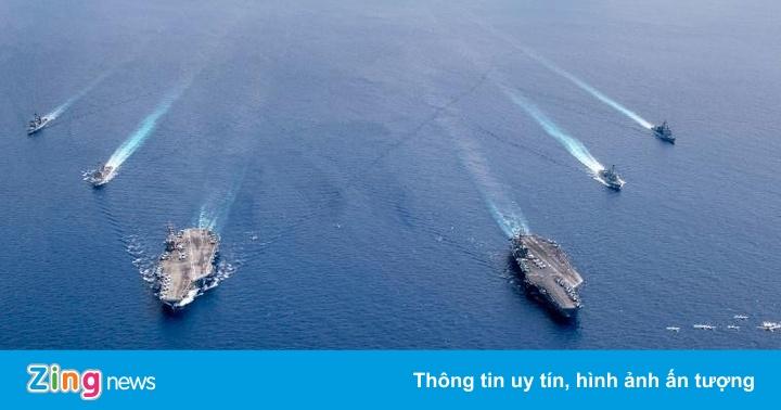 Mỹ dùng biện pháp phi thường bảo vệ quân trên tàu sân bay ở Biển Đông