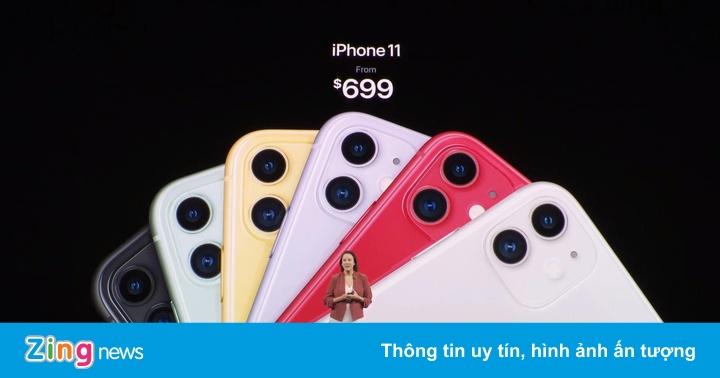 Ảnh thực tế iPhone 11 - giá từ 699 USD, nhiều màu, camera nâng cấp