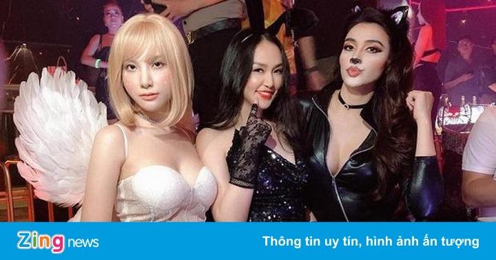 Hà Tăng, vợ Tuấn Hưng và dàn sao Việt hưởng ứng Halloween