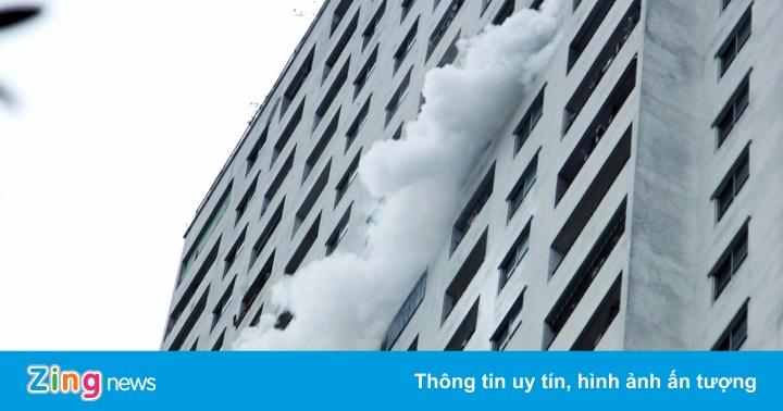 Cháy tại tầng 31 chung cư HH Linh Đàm, 1 người tử vong - Thời sự