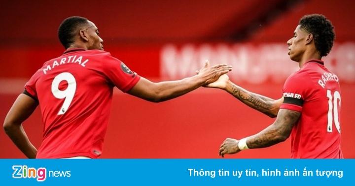 Rashford và Martial lập kỳ tích ở Man United