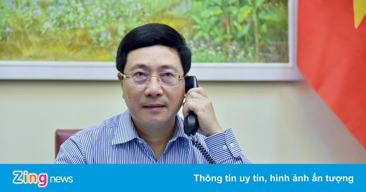PTT Phạm Bình Minh điện đàm với Ngoại trưởng Nga Sergei Lavrov