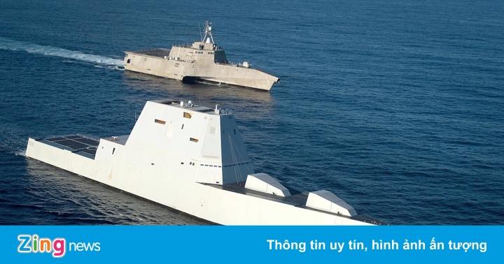 Chiến hạm dùng công nghệ sóng xuyên thân đắt nhất hành tinh của Mỹ