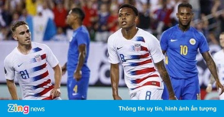 Curacao thất bại đáng tiếc trước tuyển Mỹ tại tứ kết Gold Cup