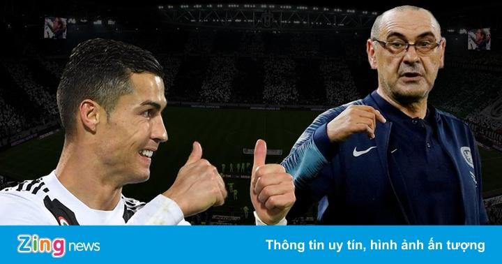 Maurizio Sarri trở thành thầy mới của Cristiano Ronaldo